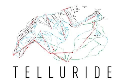 Telluride Poster, Telluride Ski Resort Poster, Telluride Art Print, Telluride Trail Map, Telluride Trail Map Art, Telluride Wall Art Poster, Telluride Colorado Decorative Map Telluride Gift (12