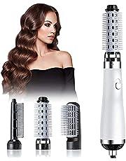 Cepillo de la máquina del cabello de 750 vatios Cepillo de secador de pelo de tres en uno, pelo corto con cepillo de aire caliente, secado y enderezado, secador de pelo portátil