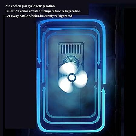 YUN Refrigerador De Vino - Refrigerador De Vino Tinto Refrigerador De Vino De Encimera - Mini Refrigerador De Vino Compacto Independiente con Control Digital, Estante De Haya Extraíble