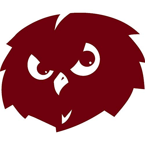 NBFU DECALS Temple Owls (Burgundy) (Set of 2) Premium Waterproof Vinyl Decal Stickers for Laptop Phone Accessory Helmet CAR Window Bumper Mug Tuber Cup Door Wall Decoration