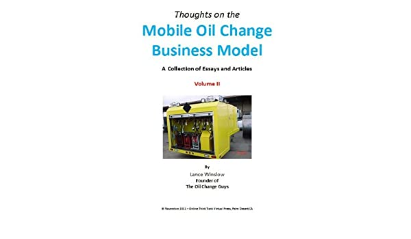 Amazon Mobile Oil Change Business Model