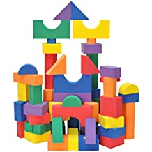 Wonder Blocks Kids Non-Toxic Non-Recycled Quality Foam (100 Piece)
