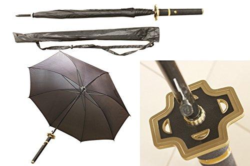 S2715 Anime ONE Piece Roronoa Zoro YUBASHIRI Knight Samurai Sword Handle Umbrella W/Bag -