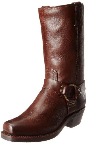 (Frye Women's Harness 12R Boot, Dark Brown Pebbled Full Grain, 7 M US)