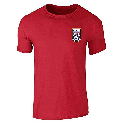 (USA Soccer Retro National Team Jersey Red XL Short Sleeve T-Shirt)
