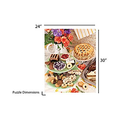 Springbok Puzzles - Pastry Shop - 1000 Piece Jigsaw Puzzle - Large 24 Inches by 30 Inches Puzzle - Made in USA - Unique Cut Interlocking Pieces: Toys & Games