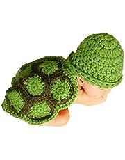 AKAAYUKO Bebé Recién Nacido Hecho A Mano Crochet Foto Fotografía Prop (Tortuga)