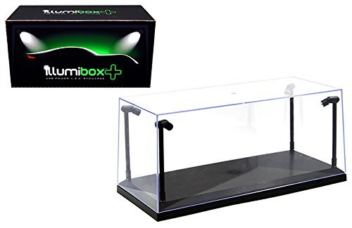 Illumibox MJ14001 Showcase 1: 18 x+ USB Powered Led Black Base Display, Clear
