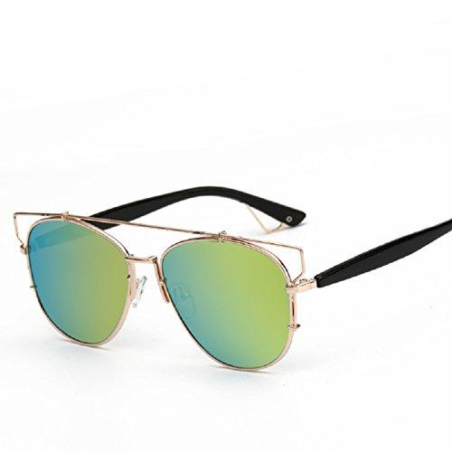 Embryform 2016 nouvelles lunettes de soleil polarisées lunettes de soleil réfléchissantes polarisée femme TR Vert