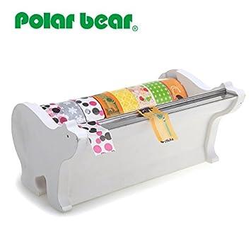 Polar Bear Multi rollos dispensador de Cinta adhesiva Washi, incluyendo 8 rollos de cinta adhesiva (15 x 9,14 m cada): Amazon.es: Oficina y papelería