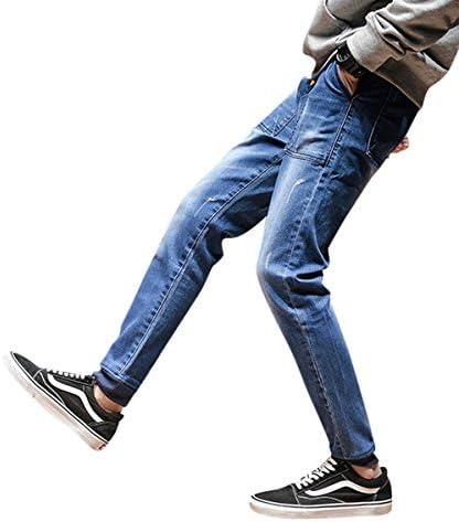 メンズ ジーパン デニムパンツ ウォッシュド 大きいボケット 無地 細身 スリム ズボン おしゃれ ストレート カジュアル ファッション 大きいサイズ 春秋 スポーツ ジーンズ