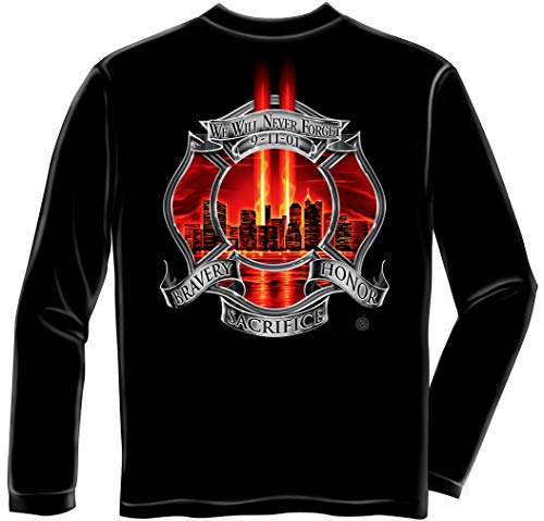 Firefighter Red Tribute High Honor Fi Long Sleeves ADD-FF2090LSXL