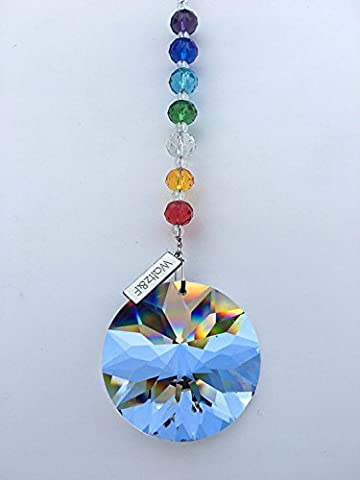 Waltz&F Chandelier Crystals Prisms Rainbow Sunflower Chakra Suncatcher with Beads for Gift (Crystal Suncatcher Chakra)