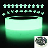 Hylaea Removable, Waterproof, Photoluminescent Sticker Tape,30 feet Length x 1 Inch Width,Glow in The Dark Green Luminous Safety Tape