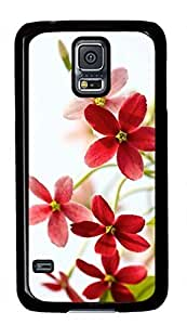 Beautiful Flower Theme Case for Samsung Galaxy S5 i9600 PC Material Black