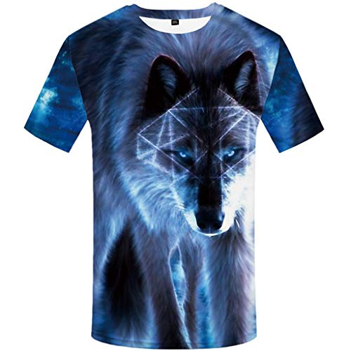 Men's Summer T-Shirt 3D Printed Blouse Short Sleeves Comfort Top