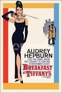 ポスター 610X915mm オードーリーヘプバーン AUDREY HEPBURN ティファニーで朝食を Breakfast At  Tiffany\u0027s/イラスト