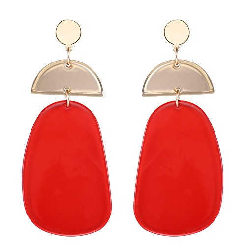 LILIE&WHITE Transparent Geometric Acrylic Dangle Earrings For Women