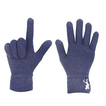 Women Girls Touch Screen Winter Gloves Soft Warm Knit