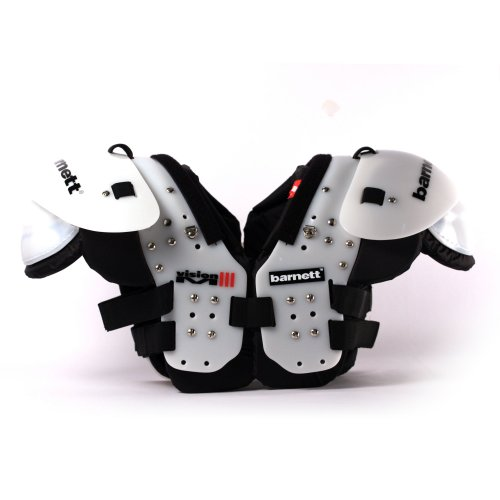 VISION III American Football Schulterschutz, sehr leicht, Gr 2XL, Farbe schwarz