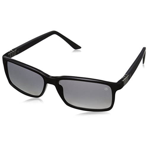 Tag Heuer Legend 9381 101 Square Sunglasses, Matt Black/Gradient Grey, 58 mm