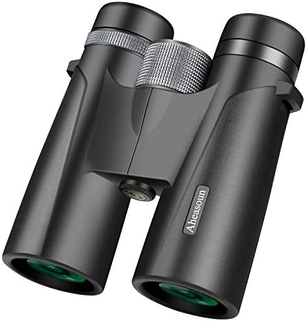 Aheasoun Binoculars for Adults 12X42 Professional HD BAK4 Roof Prism for Bird Watching Hunting Travel Sport