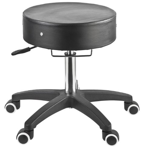 Master Massage Deluxe Glider Rolling Stool Larger Seat