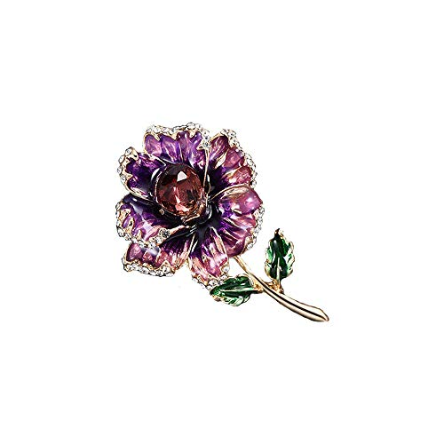 KLX High-end Creative Rhinestone Flower Vintage Brooch ()