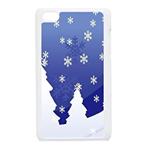 iPod Touch 4 Case White Snowy Holiday Uzqwv