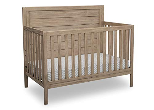 Delta Children Cambridge 4-in-1 Convertible Crib, Rustic Driftwood