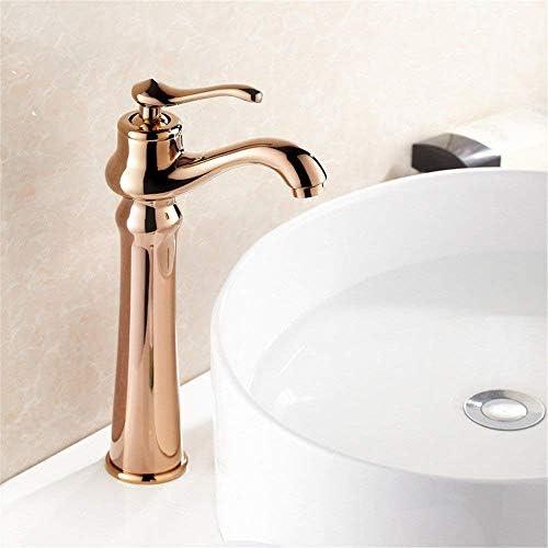 CHENBIN-BB 浴槽の蛇口/レトロバス銅シンクハンドル単穴盆地とローズJintai
