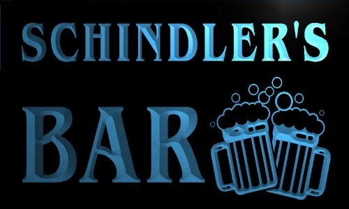 w003407-b-schindlers-name-home-bar-pub-beer-mugs-cheers-neon-light-sign