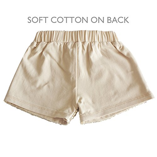 0ac6f5e68 Messy Code Baby Girls Shorts Toddlers Short Sequin Pants Newborn Sparkle  Shorts with Bow , Gold