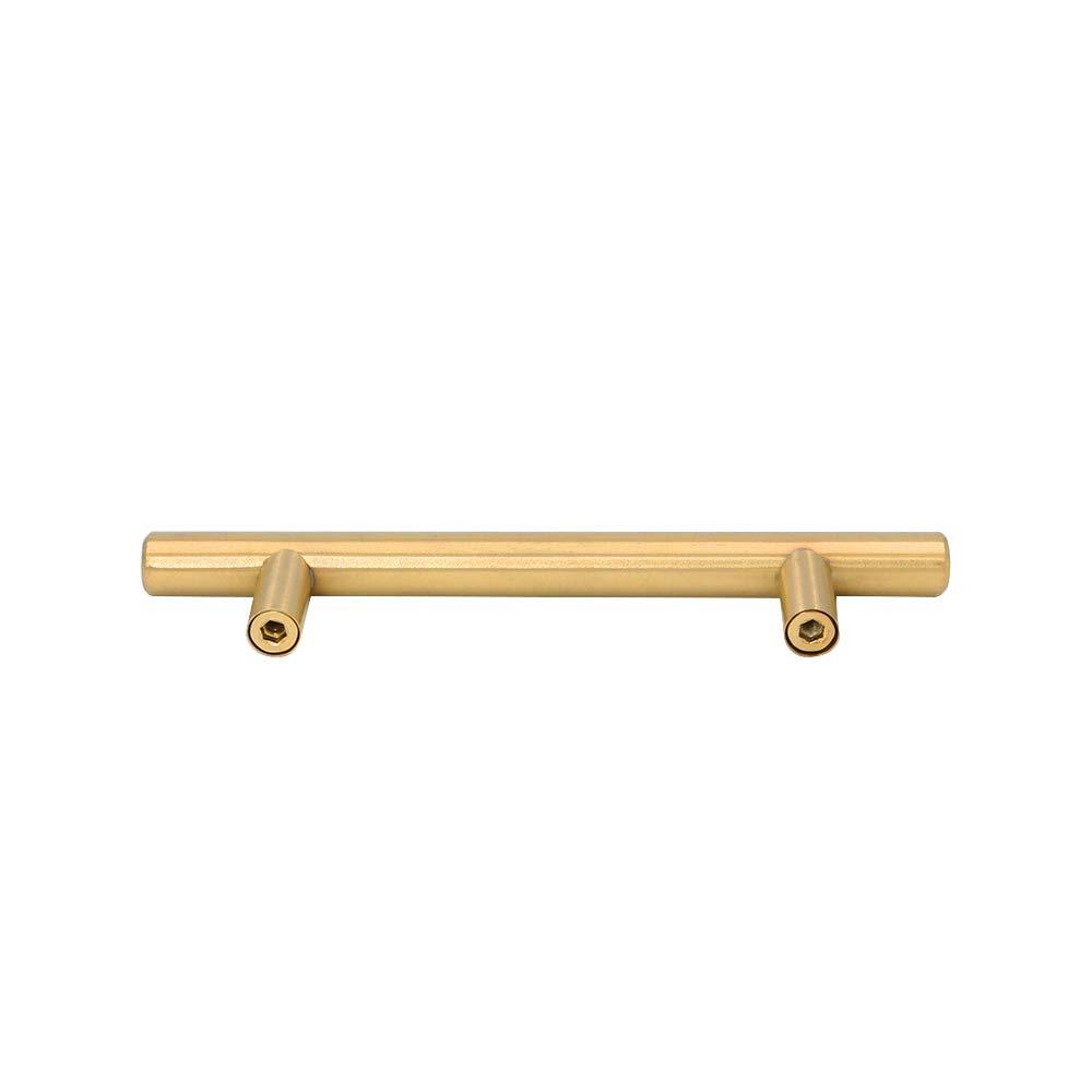 Tirador de puerta para muebles color dorado armarios de cocina o puertas en forma de T de Goldenwarm de acero inoxidable