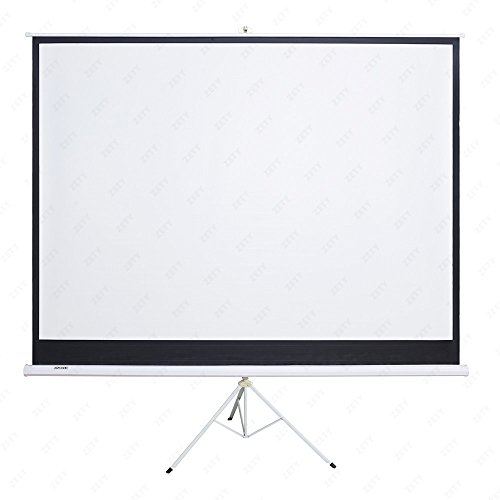 SUNCOO 100 inch HD 16:9 Portable Projector Screen Diagonal Projection Pull up Foldable Stand Tripod by SUNCOO (Image #1)