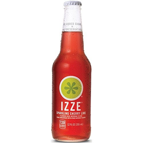 Izze Sparkling Cherry Lime, 12 Fluid Ounce -- 24 per case.