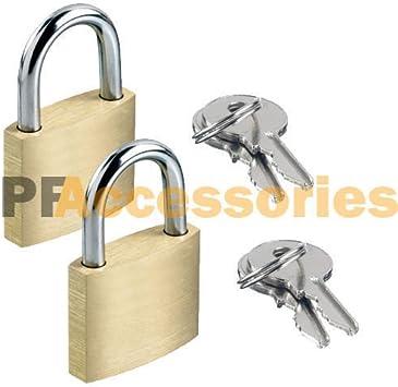 2 Pcs 25mm Solid Brass Mini Padlock Set Pad Locks w// 2 Keys for Locker Luggage