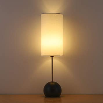 Haitral Elegant Table Lamp Minimalist Black Table Lamps With Round