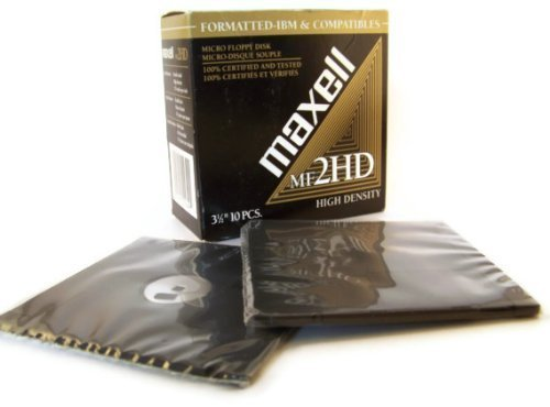 Maxell 3.5'' High Density Blank Floppy Disks (2) 10 Packs MF2HD IBM and Compatibles