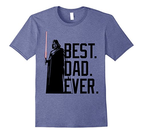 Mens Star Wars Darth Vader Best Dad Ever Tonal Graphic T-Shirt XL Heather Blue