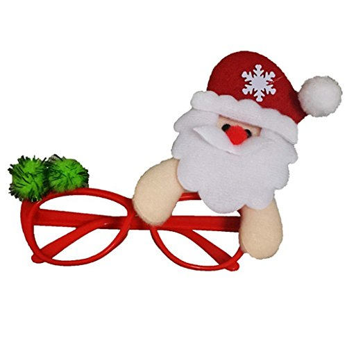 Christmas Decoration Eyeglasses with a Santa Novelty Glittered Fanci-Frames Party Accessory Eyeglasses
