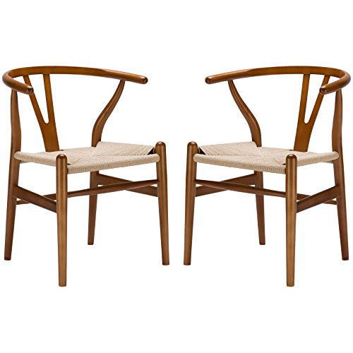 Poly And Bark Weave Chair In Walnut (Set Of 2) Noticeable