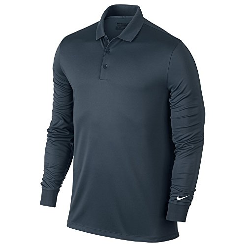 (Nike Golf Closeout Men's Victory Longsleeve Polo- Assorted 725514 (Armory Navy,)