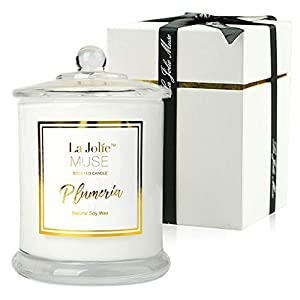 LA-JOLIE-MUSE-Plumeria-Scented-Candles-Natural-Soy-Wax-Glass-Jar-55-Hours-Burn-Fine-Home-Fragrance-Gifts-Candle-Set