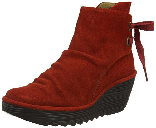 Oil London Red Fly Yama Red Women's Boots Suede 0ExrrdaqwW