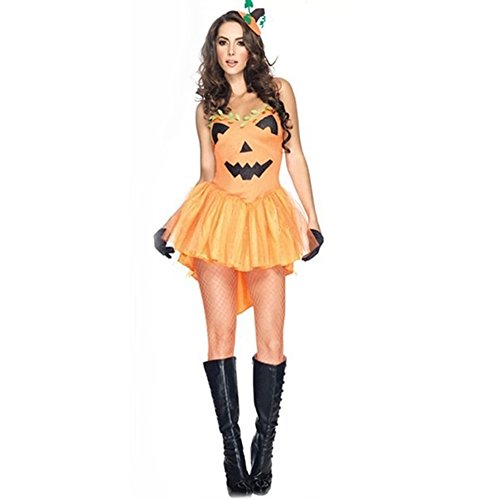 Sexy Halloween Pumpkin Princess Costume