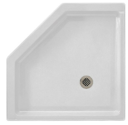 36neo Angle Shower Base (Swanstone SS-36NEO-010 36-Inch by 36-Inch by 5-1/2-Inch Neo Angle Shower Floor, White Finish)