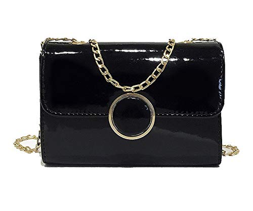 Yellow Chains Black AllhqFashion Women's Bags Dacron Pu FBUBC204750 Crossbody Casual Shopping q7wzawRx46