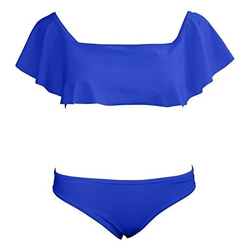 ... Bikini Damen Set Push up Sexy Gepolstert Yigoo Sport Badeanzug Rüsche  Off Shoulder Zweiteilige Badeanzüge Blumendruck ... 26d5a1715f