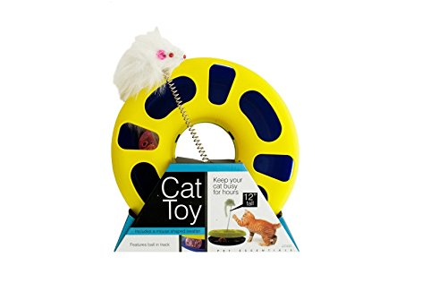 Bulk Buys OD386-1 Ball Track Cat Toy With Mouse Swatter (Balls Cat Slotted Toy)